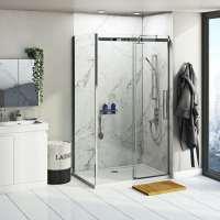 Multipanel Linda Barker Calacatta Marble shower wall panel ...