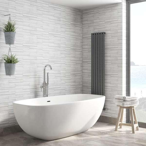 fine decor ceramica slate tile grey wallpaper