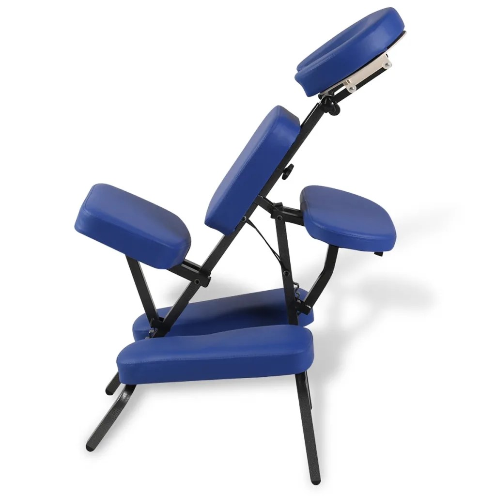 Message Chairs Blue Foldable And Portable Massage Chair Vidaxl Au
