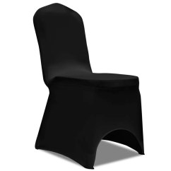 Stretch Chair Covers Red Leather Dining Room Chairs For Sale 50 Pcs Black Cover Vidaxl