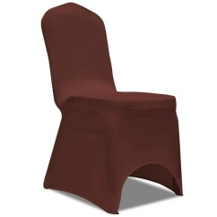 Stretch Chair Covers Yoga Ball Desk Benefits Vidaxl Co Uk Cover 6 Pcs Brown