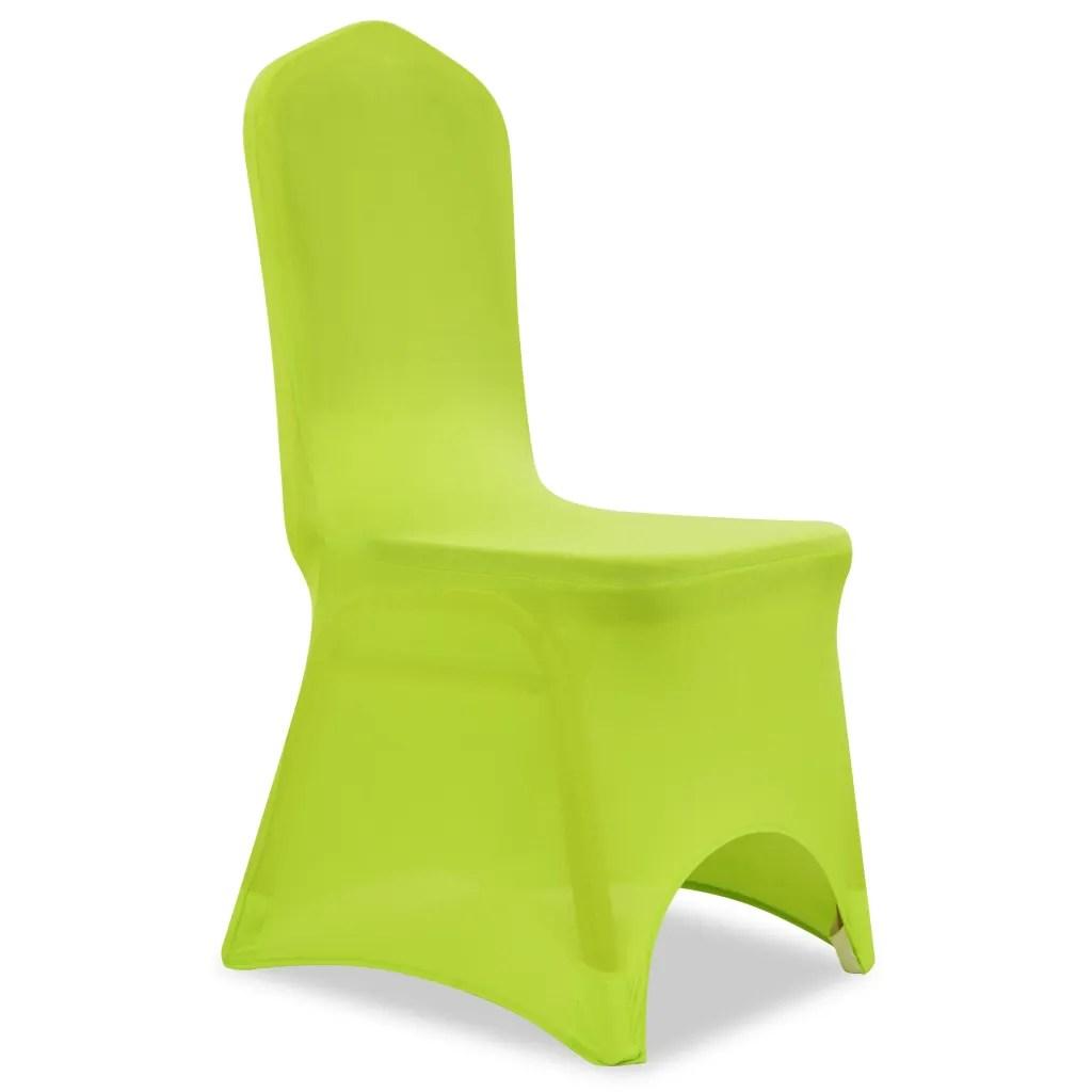 stretch chair covers australia teak chaise lounge chairs vidaxl co uk cover 4 pcs green