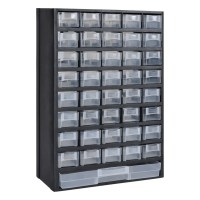 vidaXL.co.uk | 41-Drawer Plastic Storage Cabinet Tool Box