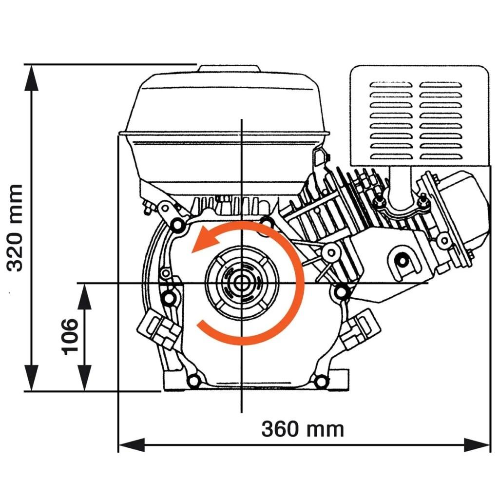 6,5 HP 4,8 kW Motor de gasolina, Negro tienda online