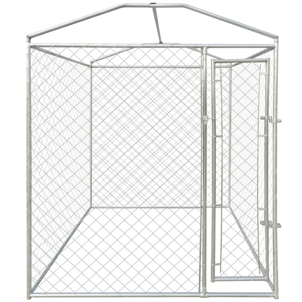 Heavy Duty Outdoor Dog Kennel With Canopy Top 79 X 79 X