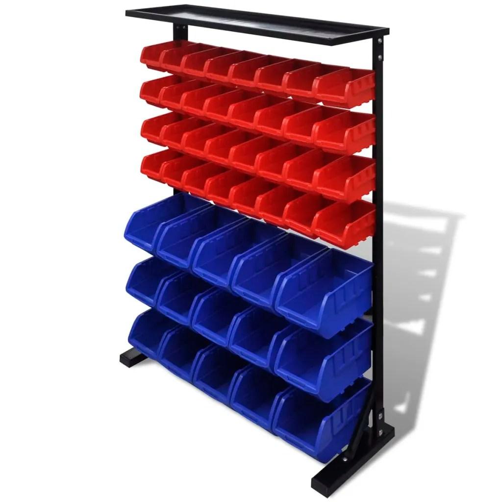 Organizador de herramientas para taller Azul Rojo tienda