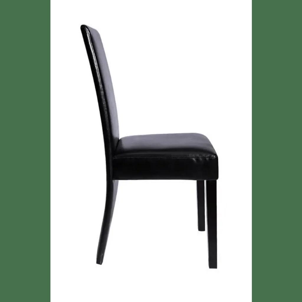 leather dining chairs australia where is blue chair bay 4 faux black vidaxl au