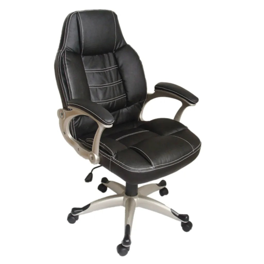 Real Leather Office Chair Black Office Chair High Back Real Leather Vidaxl
