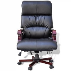 Best Office Massage Chair Swivel Bucket Black Top Real Leather Adjustable