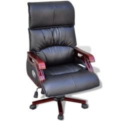 Best Office Massage Chair Hanging Holder Black Top Real Leather Adjustable