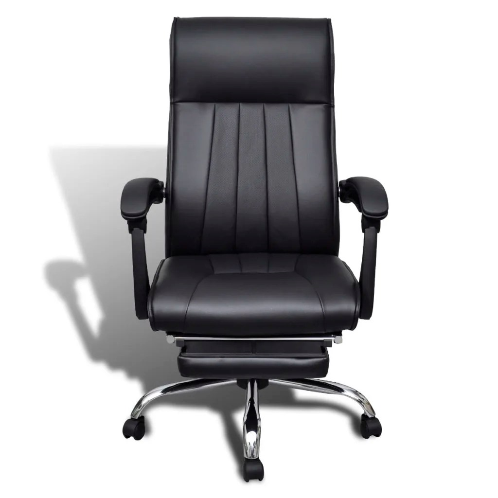 ergonomic chair with footrest office chairs costco black artificial leather adjustable
