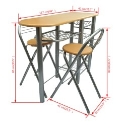 Kitchen Breakfast Table Tables Sets Vidaxl Co Uk Bar And Chairs