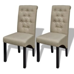 Beige Dining Chairs Norstar Office Chair Replacement Parts Set Of 2 Antique Vidaxl Au