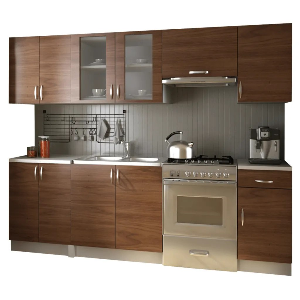 amazon kitchen cabinets pictures of outdoor kitchens vidaxl co uk cabinet unit 2 4m light brown