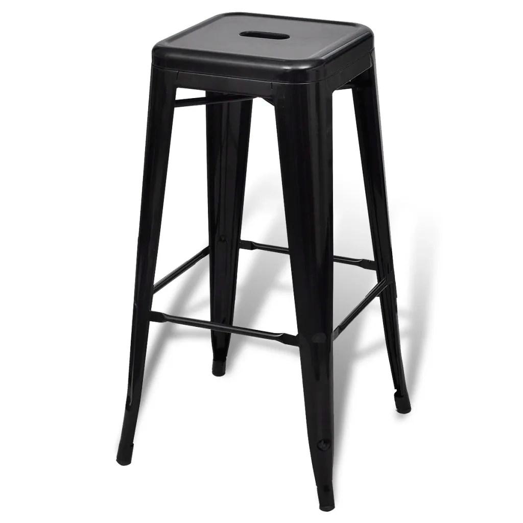 high bar stool chairs lawn chair accessories square 2 pcs black vidaxl