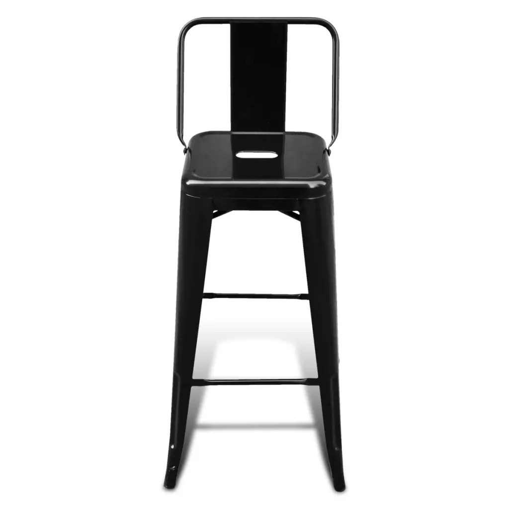 high bar stool chairs table and set chair stools square 2 pcs back black