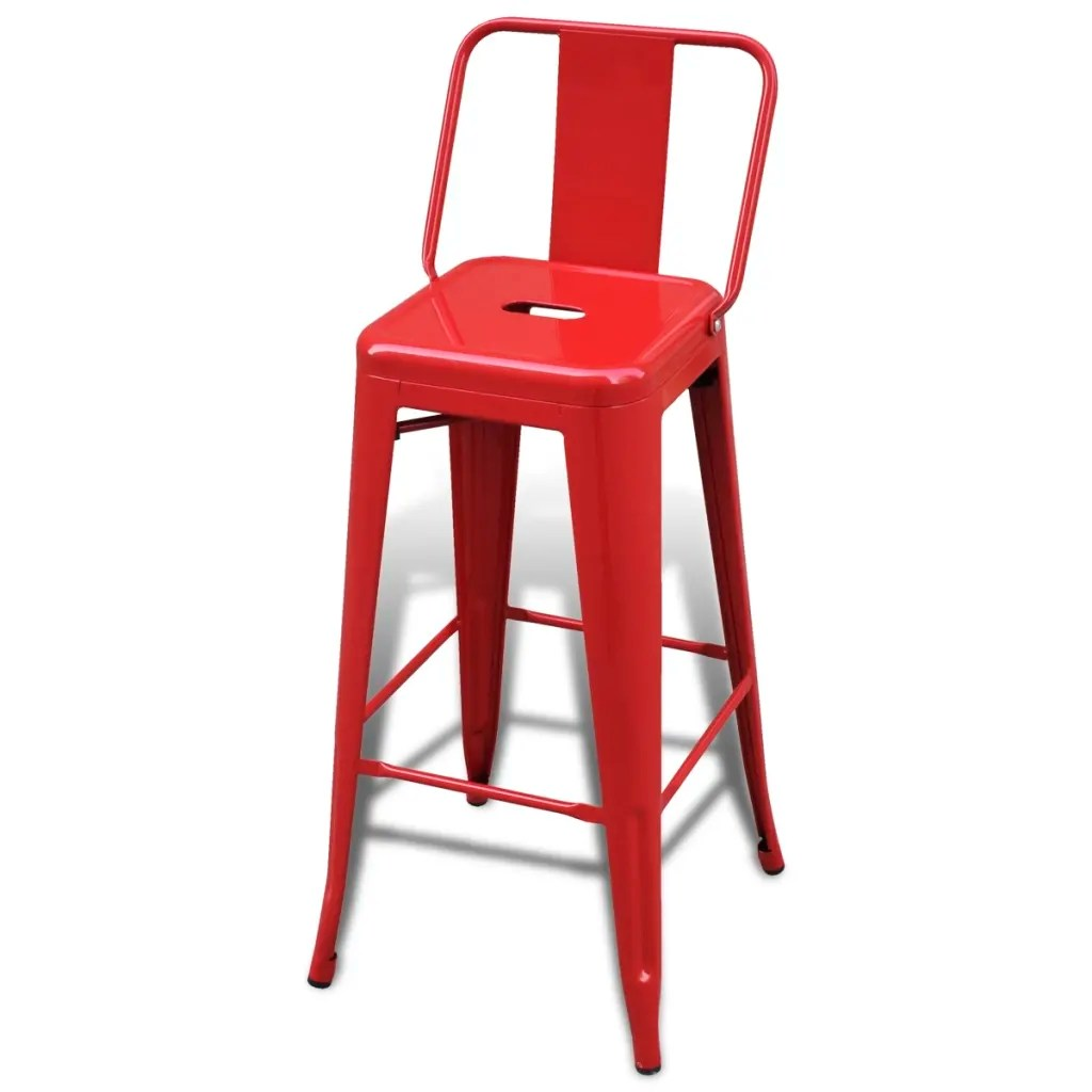 Red High Chair Vidaxl Co Uk Bar Chair High Chairs Bar Stools Square 2