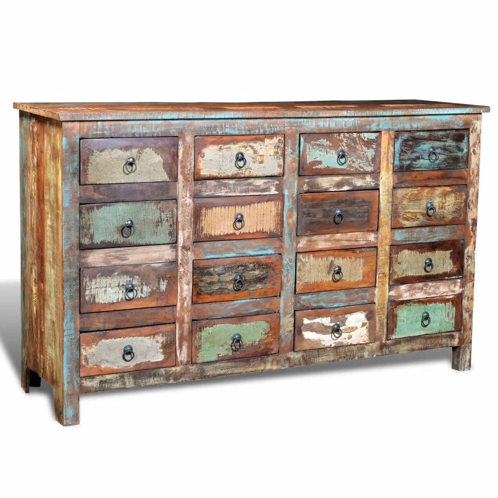 vidaXLcouk  Reclaimed Wood Cabinet Home Storage Antique