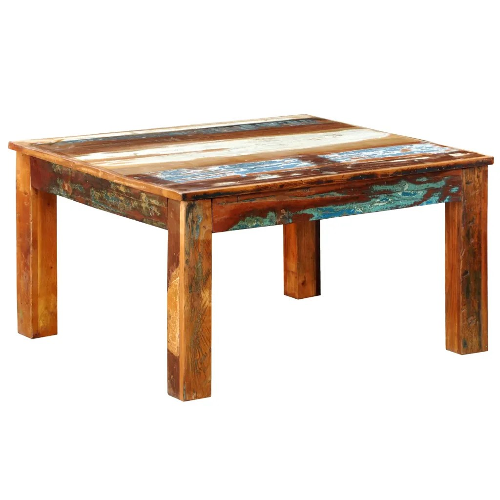 Reclaimed Wood Coffee Table Square Antique