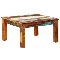 Reclaimed Wood Coffee Table Square Antique-style | vidaXL.com