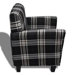 Black Fabric Sofa Chair Plum Sofas Armchair Seat Cushion Vidaxl
