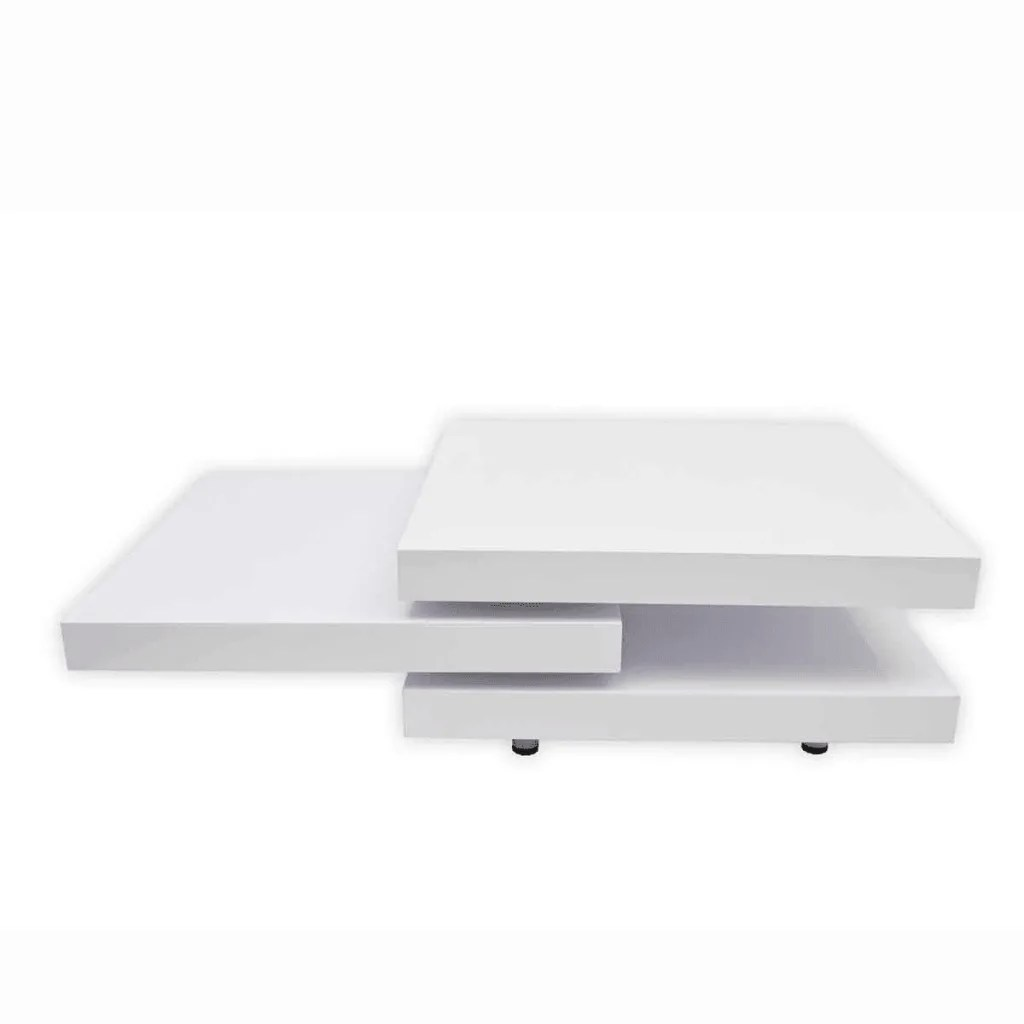 vidaXLcouk  Coffee Table 3 Layers White High Gloss