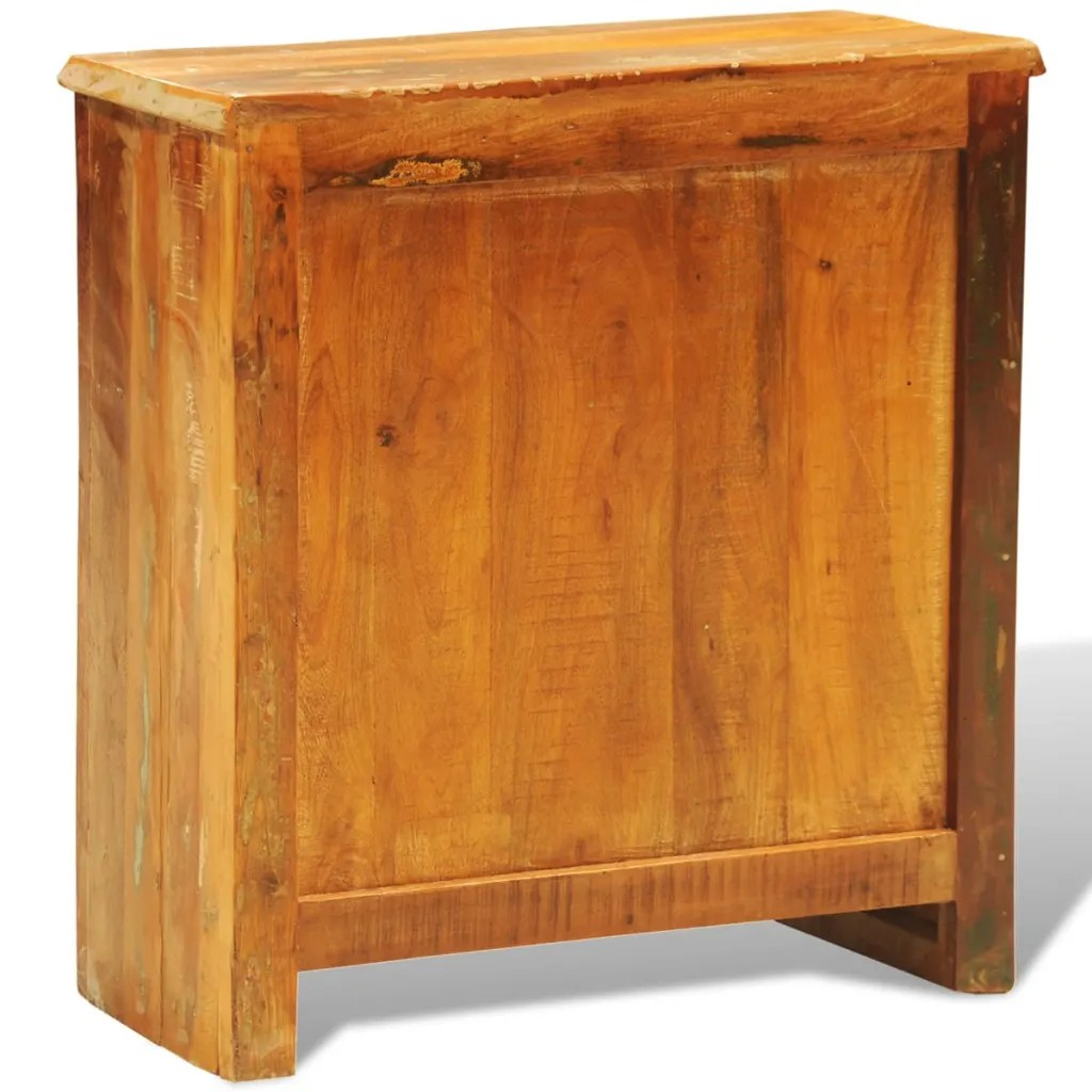 Reclaimed Wood Cabinet with Two Doors Vintage Antique