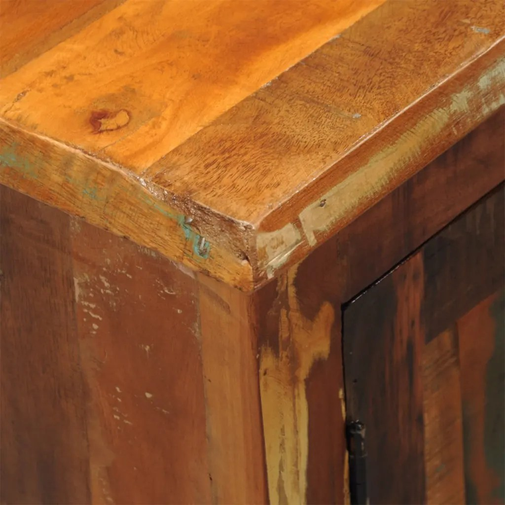 vidaXLcouk  Reclaimed Wood Cabinet with Two Doors