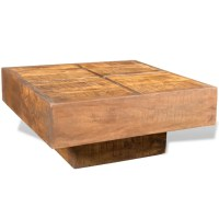 vidaXL.co.uk   Brown Antique-style Square Mango Wood ...
