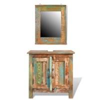 vidaXL.co.uk | Reclaimed Solid Wood Bathroom Vanity ...
