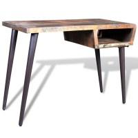 vidaXL.co.uk | Reclaimed Wood Desk with Iron Legs