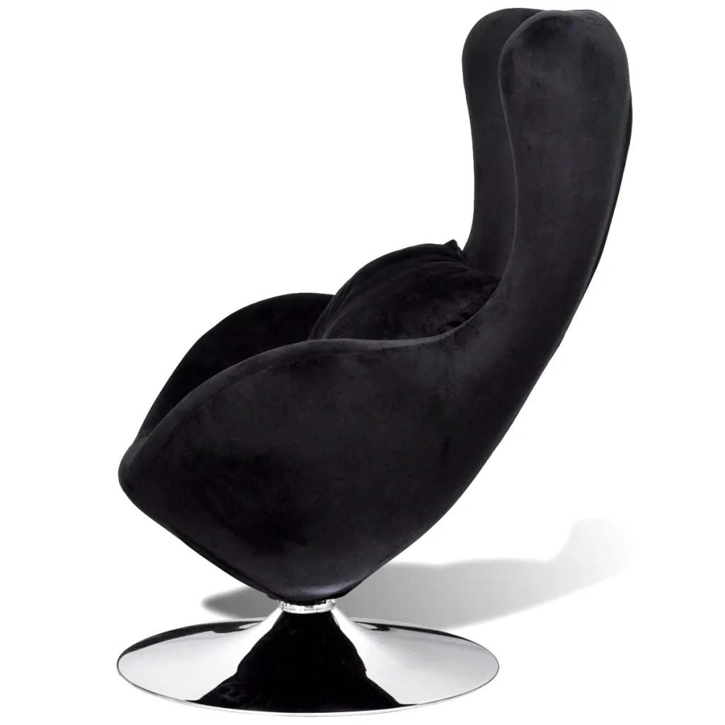 Small Black Egg Swivel Chair with Cushion  wwwvidaxlcomau