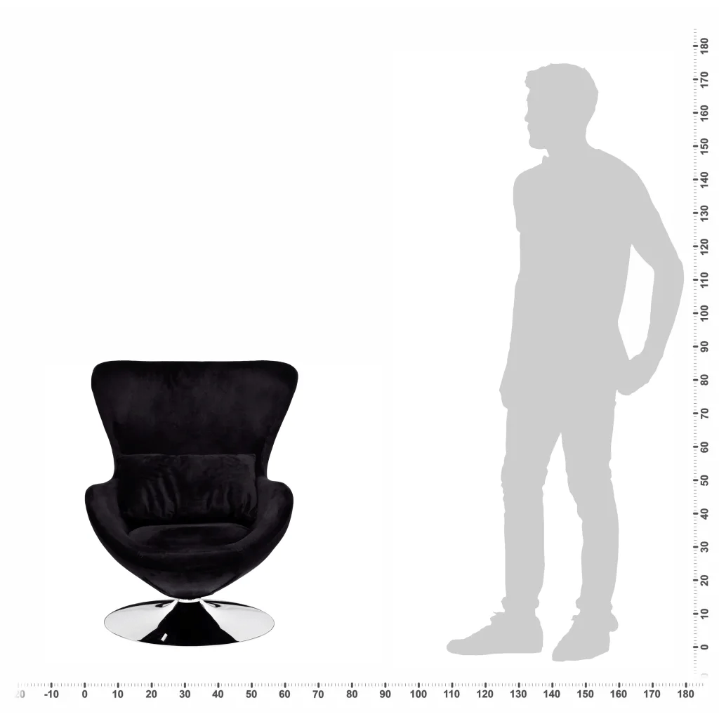 swivel chair egg gym mat small black with cushion vidaxl au