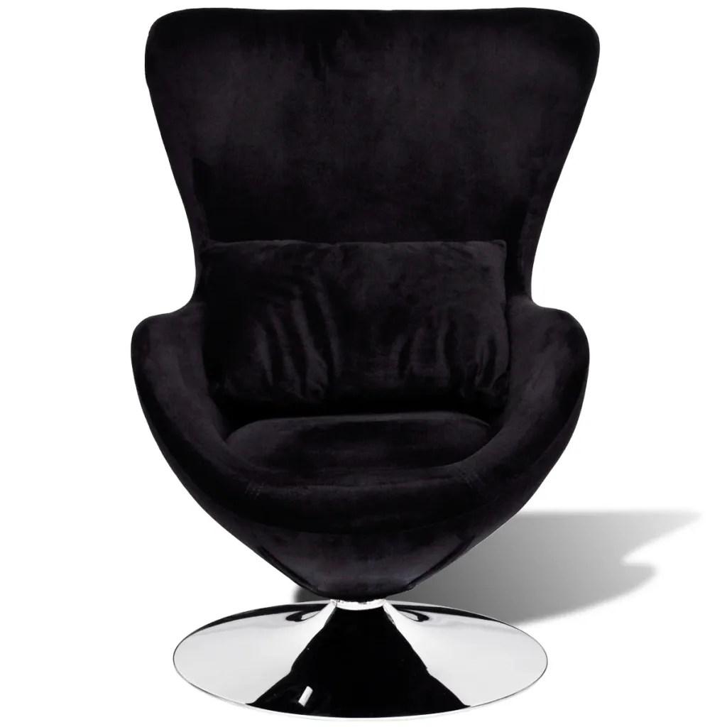 egg chair cushion coleman lumbar quatro small black swivel with vidaxl au