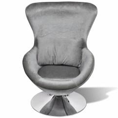 Swivel Chair Egg Unusual Chairs For Sale Small Silver With Cushion Vidaxl Au