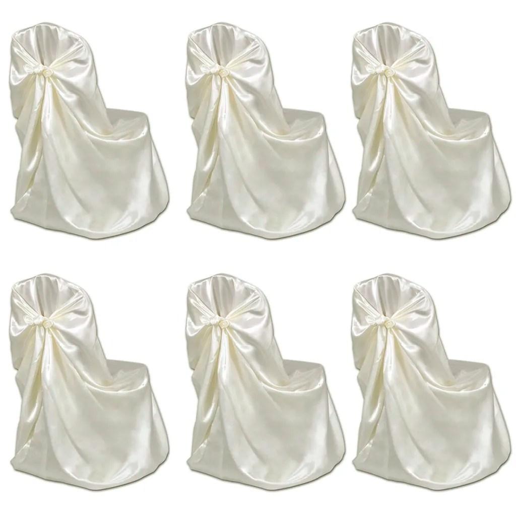 wedding chair covers for sale australia mickey mouse bean bag 6 pcs cream cover banquet vidaxl