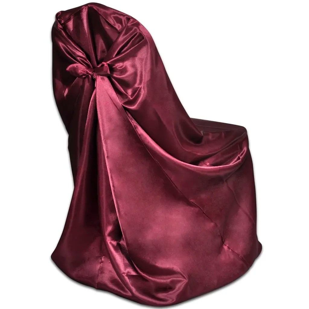 burgundy chair covers wedding swing top view 6 pcs cover for banquet vidaxl