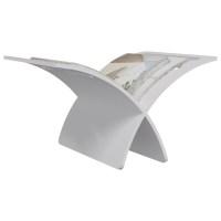 vidaXL.co.uk | Wooden Magazine Rack Floor Standing White