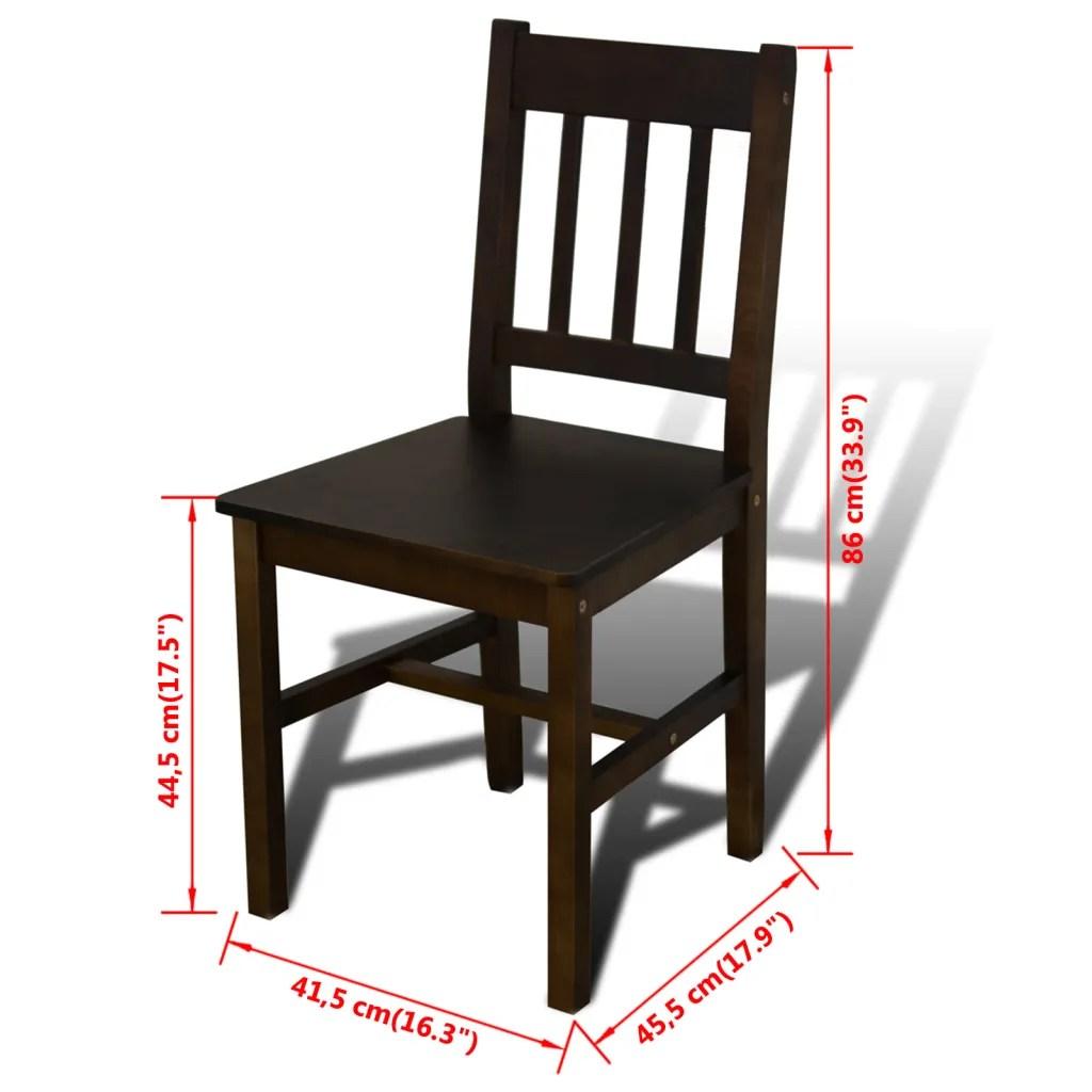 vidaXLnl  Houten eetkamertafel met vier stoelen bruin
