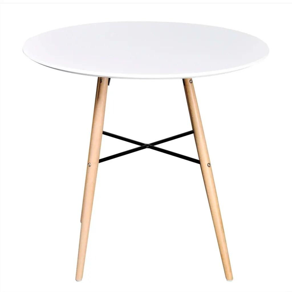 vidaXLcouk  Matte White Round Dining Table