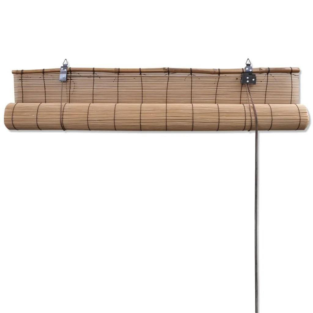 Persiana  Estor enrollable marrn de bamb 100 x 160 cm tienda online vidaXLes