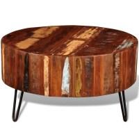 vidaXL.co.uk | Reclaimed Solid Wood Round Coffee Table