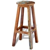 vidaXL.co.uk | Reclaimed Solid Wood High Bar Stool