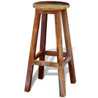 Reclaimed Solid Wood High Bar Stool | vidaXL.com
