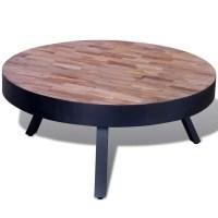 vidaXL.co.uk   Coffee Table Round Reclaimed Teak