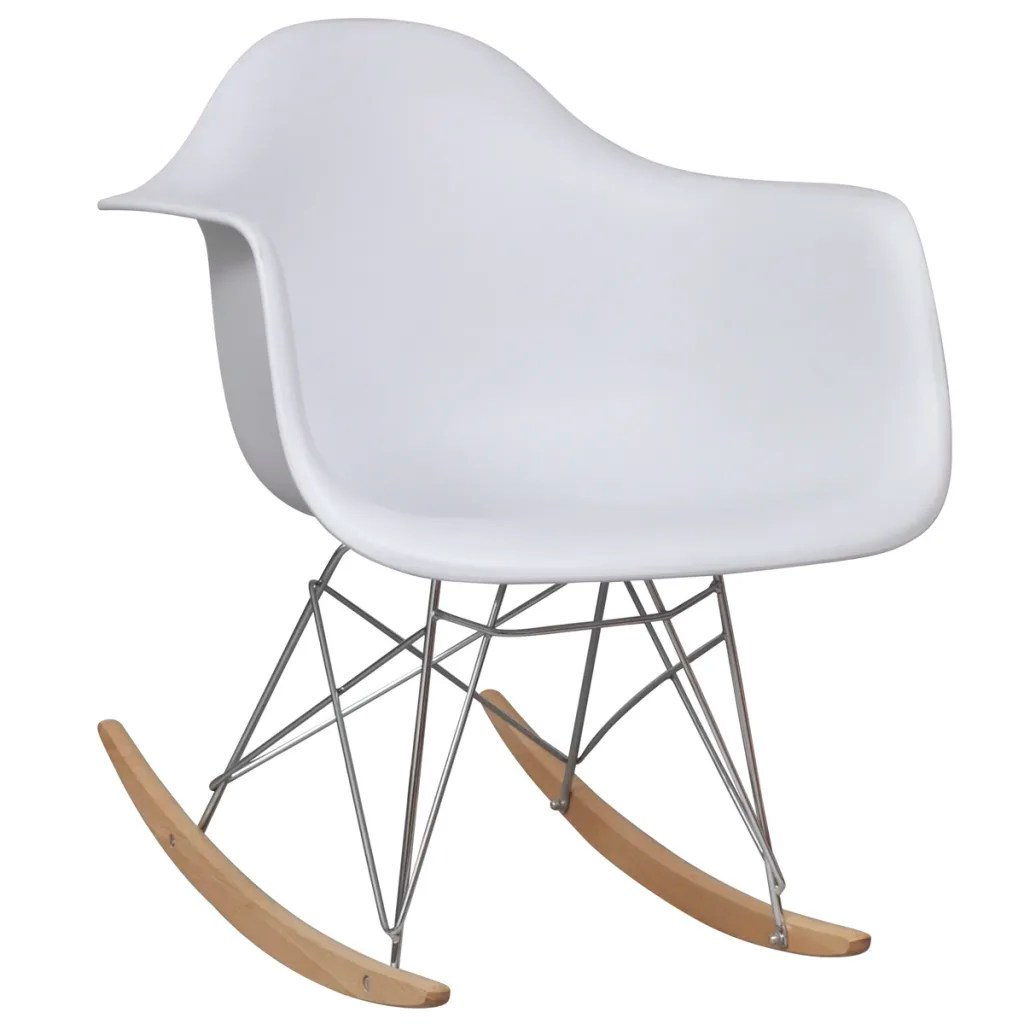 white rocking chairs for sale oversized wooden chair with metal legs vidaxl