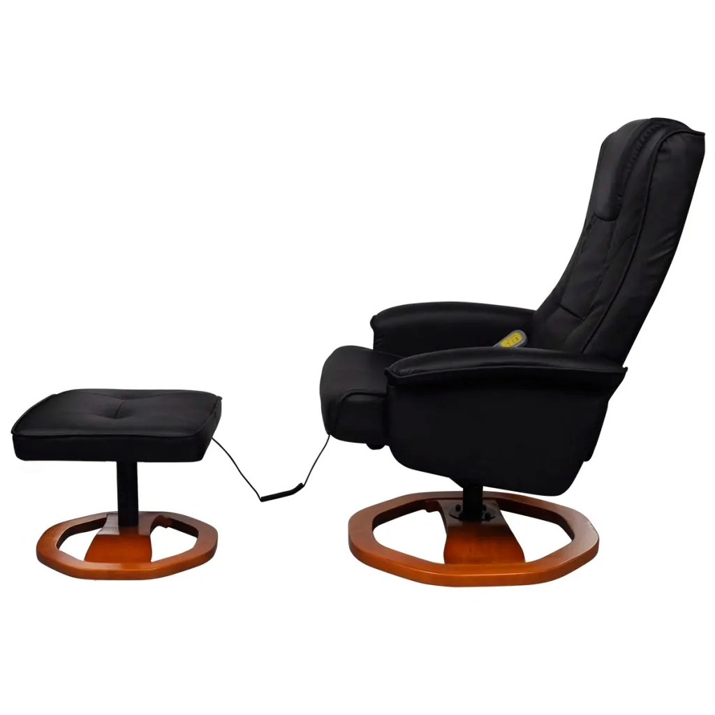 black massage chair gaming on stand vidaxl co uk electric artificial leather