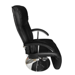 Black Massage Chair Bed Accessories Vidaxl Co Uk Artificial Leather Electric Tv