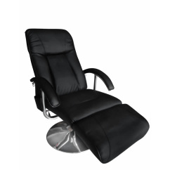Black Massage Chair Wedding Covers Inverness Vidaxl Co Uk Artificial Leather Electric Tv