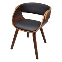 vidaXL.co.uk | Dining Chair with Padded Bentwood Seat